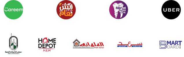 عملاء شركة اعلانك   شركة تسويق الكتروني في مصر